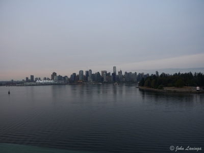 Leaving downtown Vancouver