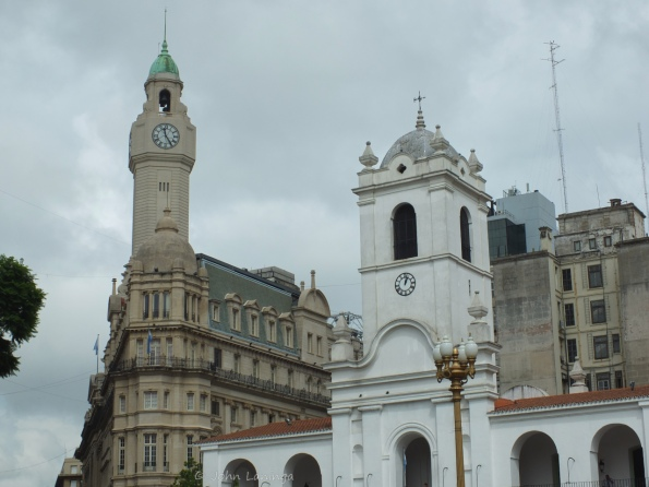 Local church and oivernment buildings