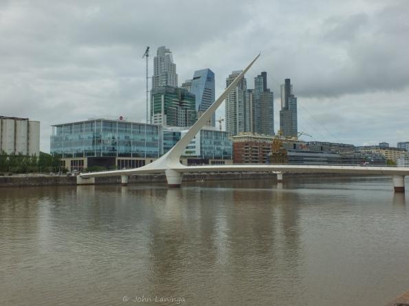"""The """"Puente de la Mujer"""" foot bridge"""