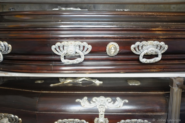 A look inside finds caskets with silver hardware