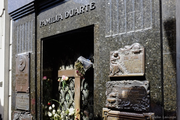 Eva Peron's grave, still very popular