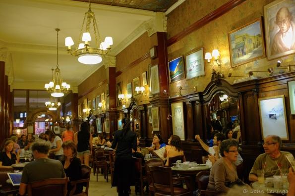 Inside Cafe Tortoni