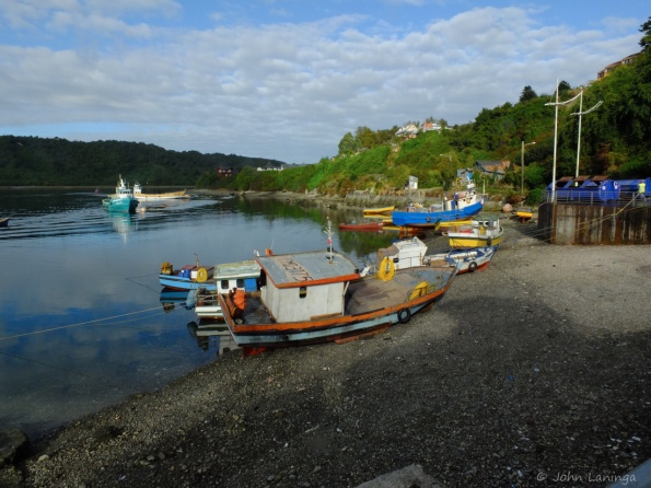 Puerto Montt is a fishing village
