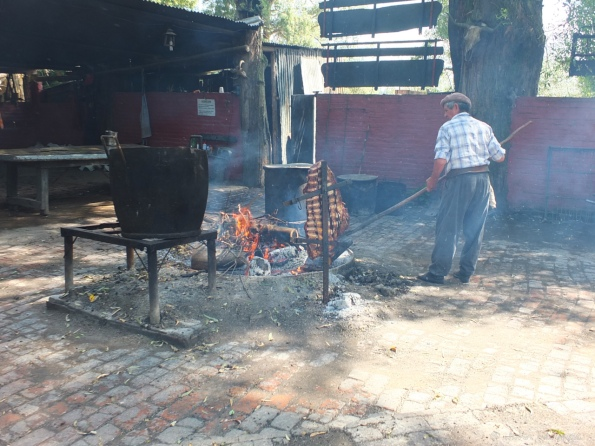 Cooking lunch, Argentina style