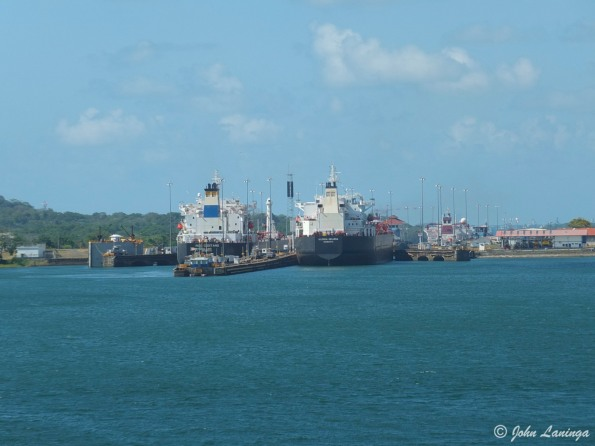 Approaching the Gatun locks