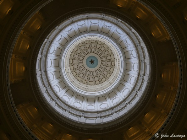 Looking up inside the Rotunda dome