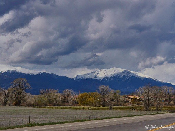 On US-50, heading into Salida