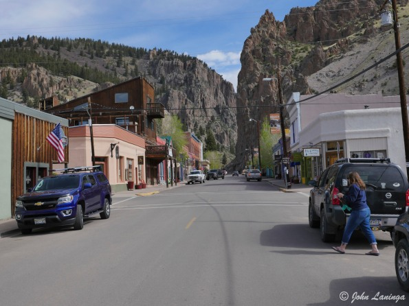 The drive into Creede shows why it is a mining town