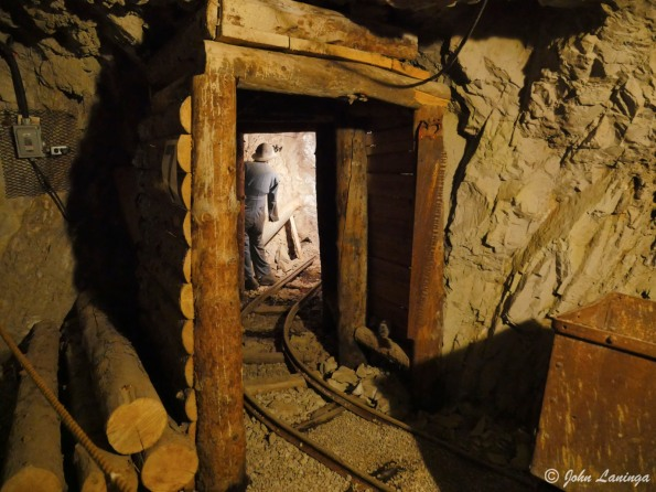 Working at the face of the mine
