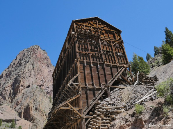 One of the main Commodore mine structures