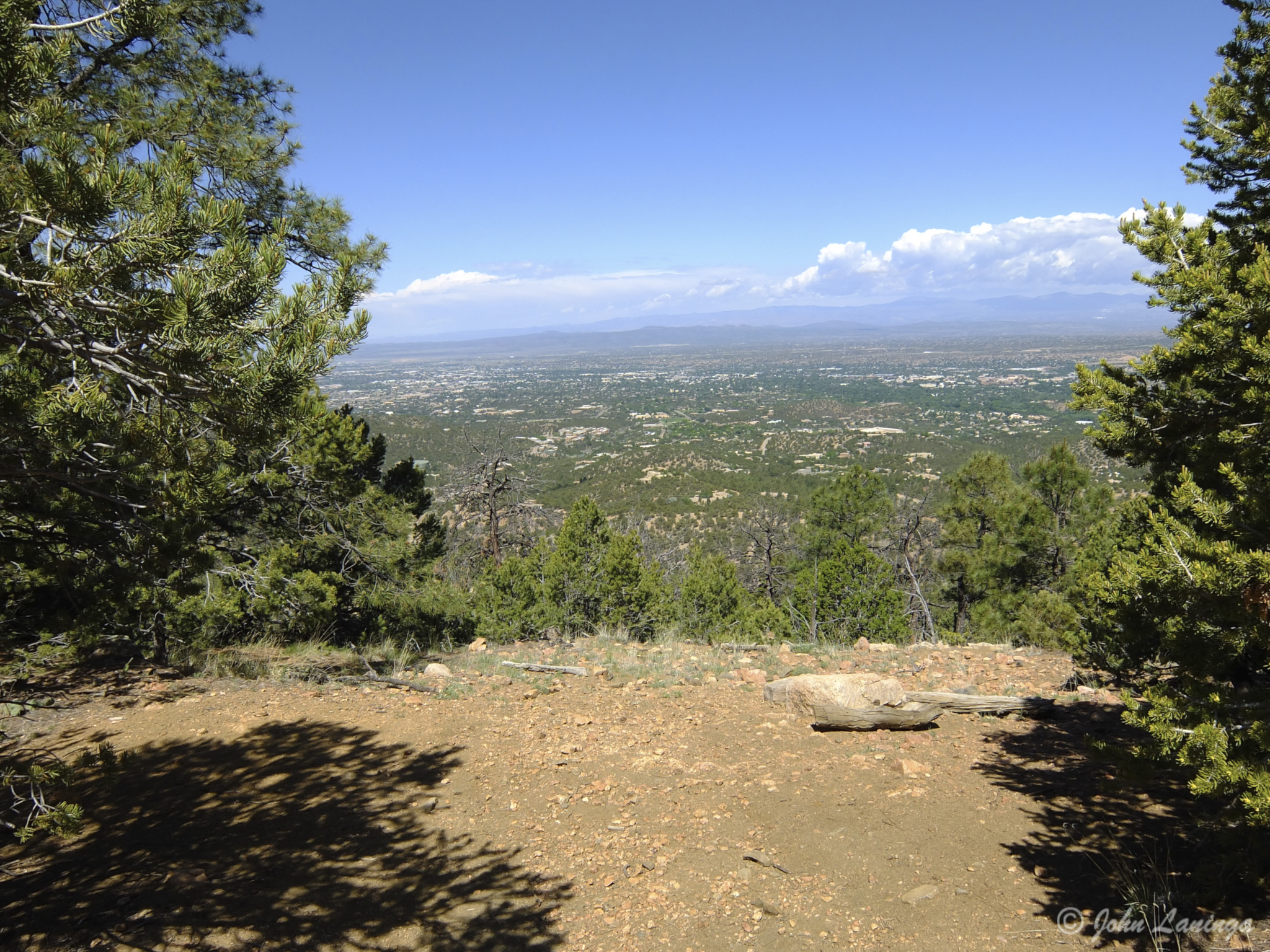 A view back to Santa Fe