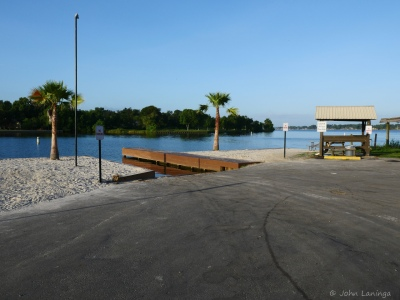 Boat launching area