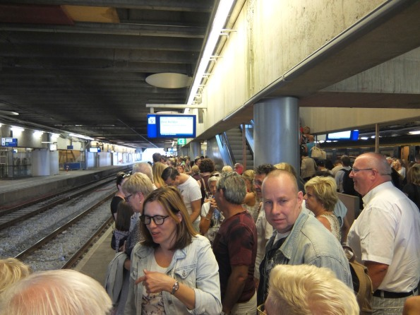 Crowds at the station