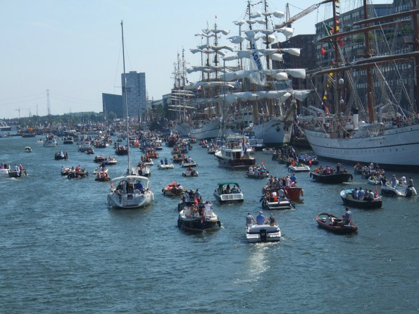 A real flotilla of boats on parade!