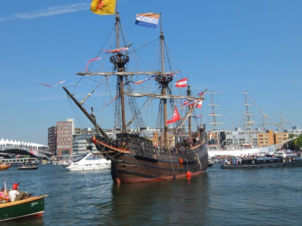 Replica of a Spanish galeon,reminicent of Columbus