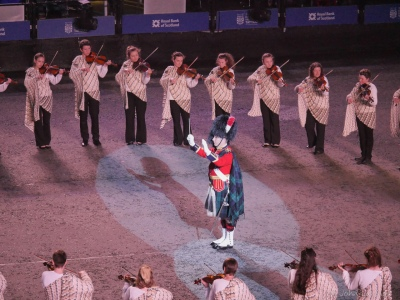 Conducting the Shetland Fiddlers