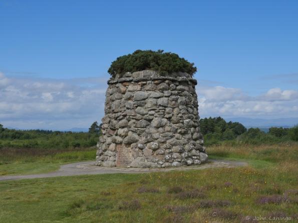 The memorial cairn