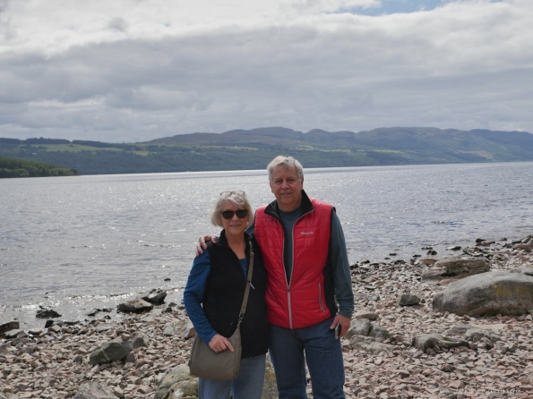 Turning our backs to Loch Ness, we're not scared
