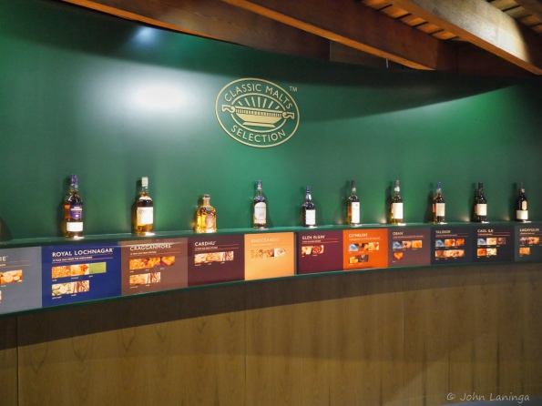 The variety of single malt whiskeys distilled here