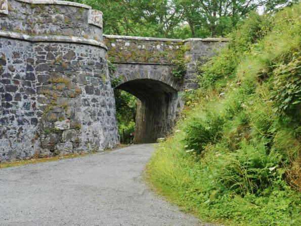 An old bridge under the castle entrance