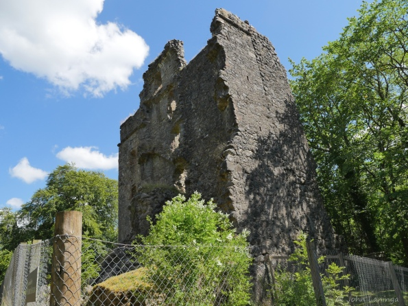 A castle ruins near Inverngarry