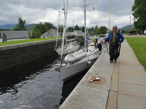 Ship's heading up tha Caledonian canal