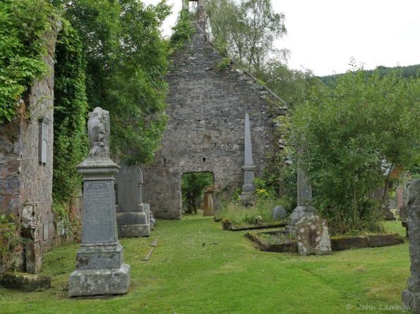 Church ruins and graveyard