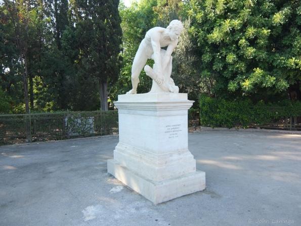 Statue at the Stadium