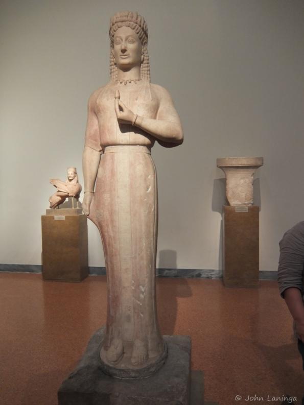 Tall statue of a virgin