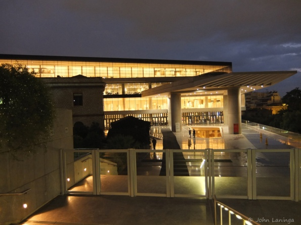 Acropolis museum, at night