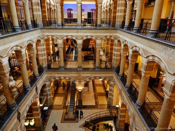 Inside the shopping center