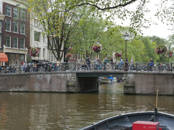 Of course, a canal with typical bridge (and bicycles)