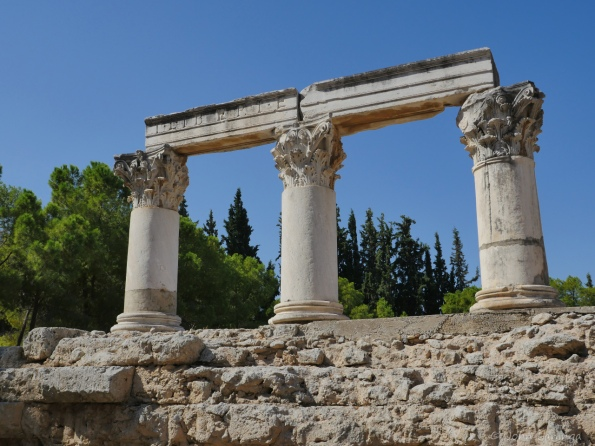 Another view of Old Corinth temple remains