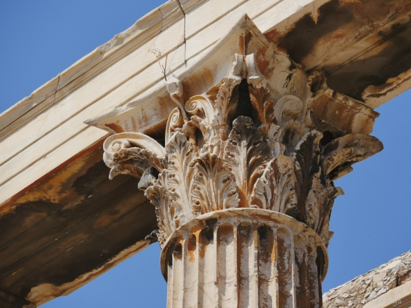 Detail of the column tops
