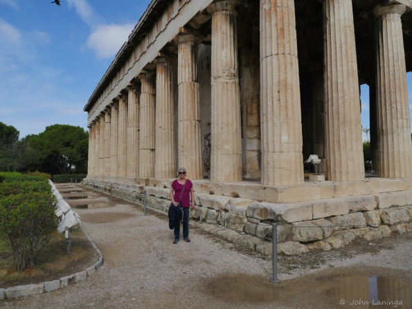 Romola is dwarfed by the Hephaisteion