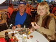 Larry and Naomi enjoying oysters