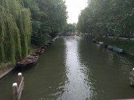 A typical city canal