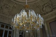 Chandelier on main stairway Catherine Palace