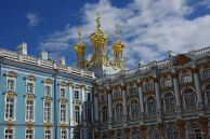 Gilded domes on the Catherine Palace