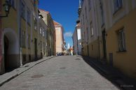 Cobbled city street