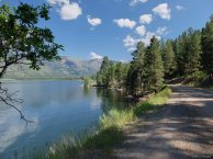 Lake and gravel road