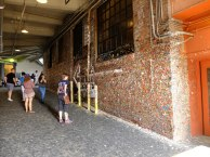 """Not sure about this... a whole alleyway """"decorated"""" with chewed gum!"""