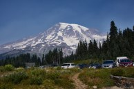 Mount Rainier from the parking lot at Paradise